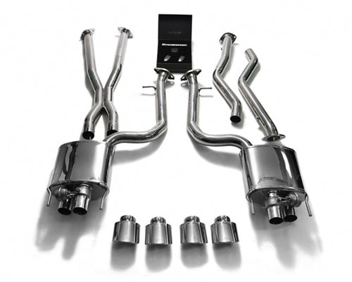 ARMYTRIX Stainless Steel Valvetronic Header Back Exhaust System Quad Blue Coated Tips Lexus RC-F 5.0L V8 15-17
