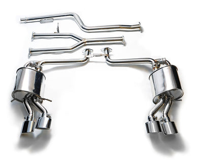 ARMYTRIX Stainless Steel Valvetronic Performance Catback Exhaust Quad Chrome Silver Tips Mercedes Benz C-Class W204 12-15