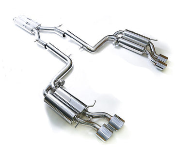 ARMYTRIX Stainless Steel Valvetronic Catback Exhaust Quad Matte Black Tips Mercedes Benz C63 AMG W204 08-14