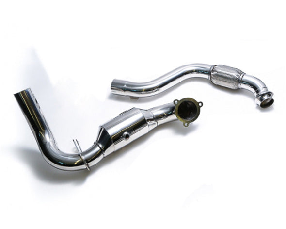 ARMYTRIX Ceramic Coated High-Flow Performance Race Downpipe | Link Pipe Mercedes-Benz A-Class | CLA-Class 13-17