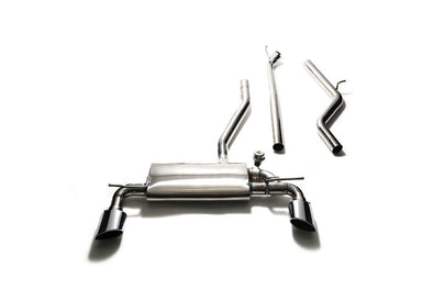 ARMYTRIX Stainless Steel Valvetronic Catback Exhaust System Dual Chrome Silver Tips Mercedes-Benz CLA250 4WD C117 14-17