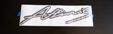 "Affinis Motorsports Black/Chrome 24"" Sticker"