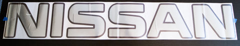 NISSAN GT Wing Black/Chrome Sticker