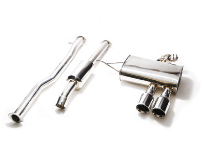 ARMYTRIX Stainless Steel Valvetronic Catback Exhaust System Dual Chrome Silver Tips Mini Cooper S F56 14-17