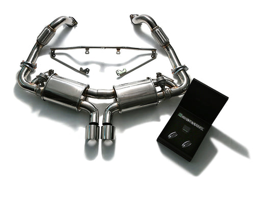 ARMYTRIX Stainless Steel Valvetronic Exhaust System Dual Chrome Silver Tips Porsche 981 Boxster | Cayman 13-16