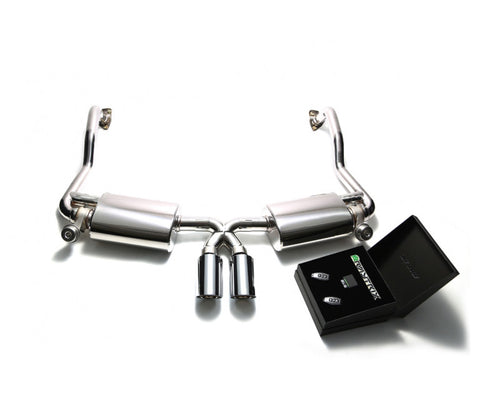 ARMYTRIX Stainless Steel Valvetronic Exhaust System Dual Chrome Silver Tips Porsche 987.2 Boxster | Cayman PDK 09-12