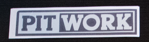 PITWORK Sticker Black/Chrome