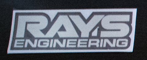 RAYS Engineering sticker Black/Chrome