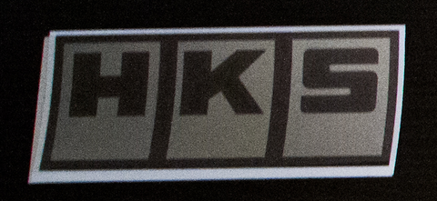 HKS sticker Black/Chrome