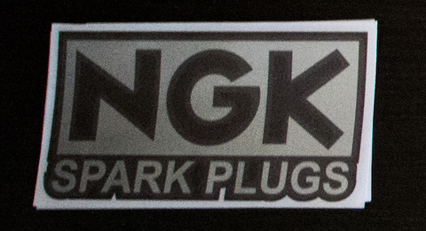 NGK sticker Black/Chrome