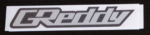 Greddy sticker Black/Chrome