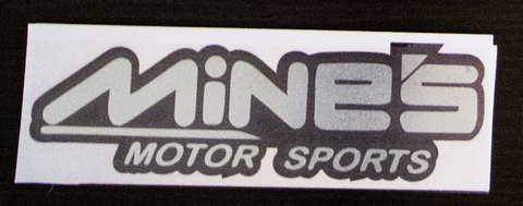 MiNES sticker Black/Chrome
