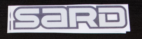 SARD sticker Black/Chrome