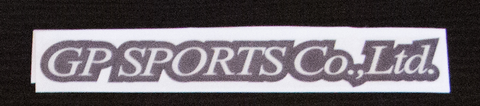 GP Sports sticker Black/Chrome
