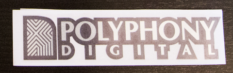 POLYPHONY Digital sticker Black/Chrome