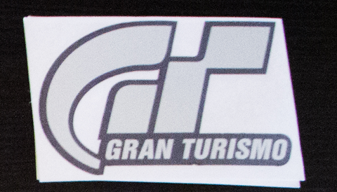 Gran Turismo sticker Black/Chrome