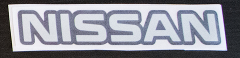 Nissan sticker Black/Chrome