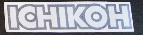ICHIKOH sticker Black/Chrome