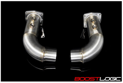 BOOST LOGIC PORSCHE 991 TURBO CAT DELETE PIPES Affinis Motor Sports