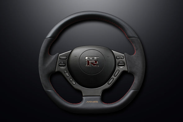 Mine's R35 GTR Leather Steering Wheel