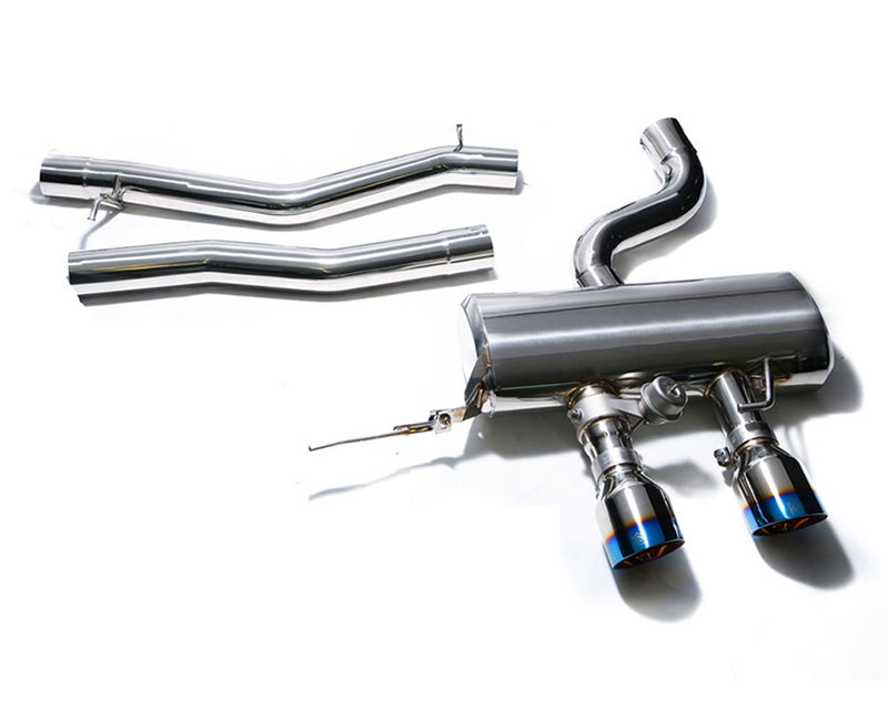 ARMYTRIX Stainless Steel Valvetronic Catback Exhaust System Dual Chrome Silver Tips Volkswagen Golf R20 MK6 10-14
