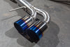 Agency Power Titanium Exhaust System 90mm Piping with Blued 120mm Tips Nissan R35 GT-R 09-17