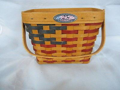 Longaberger1998  25th Anniversary Basket & Protector