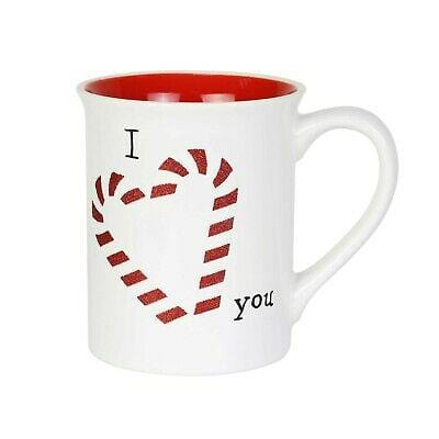 Enesco Our Name Is Mud 2019 Glitter Candy Cane 16oz Mug #6004642 Free Shipping 48 States 2019