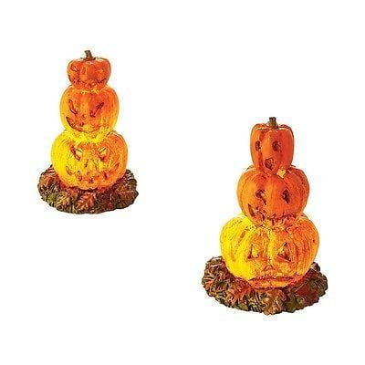 Dept 56 Halloween 2016 Lit Stacked Jack-O-Lanterns #4054266 NIB FREE SHIP 48 STA