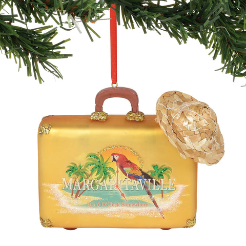 Margaritaville 2018 Suitcase Ornament #6000441 NEW FREE SHIPPING 48 STATES   2018