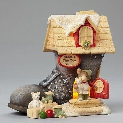 Heart Of Christmas 2015 Santa's Boot Mice House #4046845 NIB FREE SHIP 48 STATES