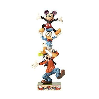Jim Shore Disney Traditions 2016 Goofy, Donald, & Mickey Stacked #4055412