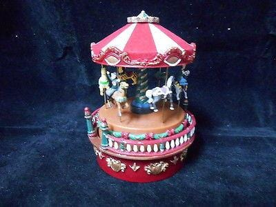 Mr. Christmas Mini Carnival Carousel Music Box #19700 NIB FREE SHIPPING 48 STATE