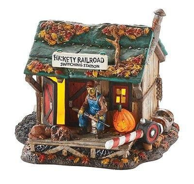 Dept 56 Halloween 2015 Haunted Rails Outpost #4049914 NIB FREE SHIP 48 STATES