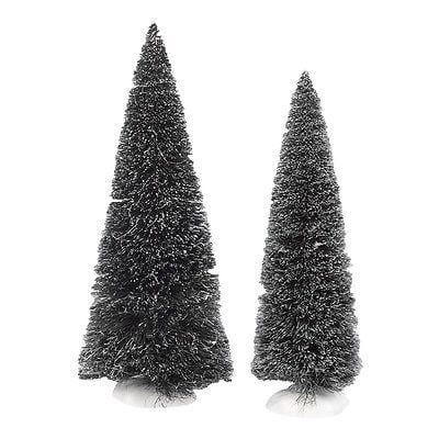 Dept 56 2014 Jumbo Frosted Sisal Trees Set/2 #4038839 NIB FREE SHIPPING 48 STATE