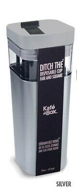 Kafe In A Box Tritan Inner Cup 12oz Silver #5012SI NEW FREE SHIPPING 48 STATES