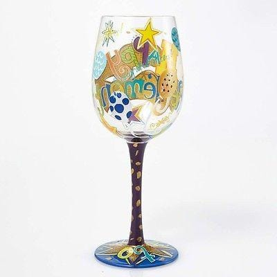 Lolita Wine Glasses Happy Retirement #GLS11-5534H NIB FREE SHIPPING 48 STATES