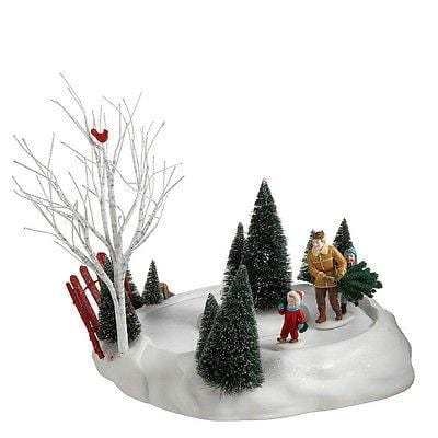 Dept 56 2011 Animated Bringing Home The Tree #4020241 NIB FREE SHIPPING 48 STATE