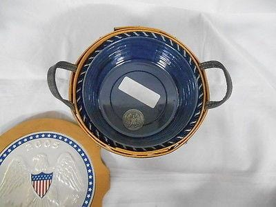 Longaberger Inaugural Baskets Set/6 1989 thru 2009 GREAT CONDITION