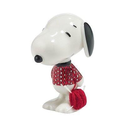 Dept 56 Peanuts Snoopy By Design Knit & Pearl Pup #4043267 NIB FREE SHIP 48 STAT
