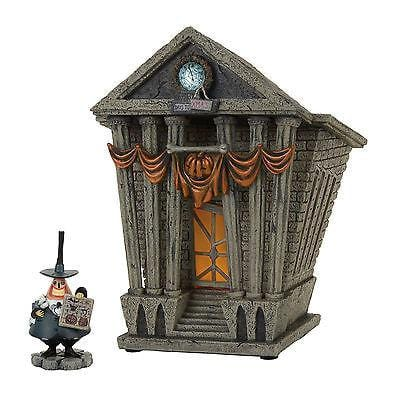 Dept 56 Halloween 2017 Halloween Town City Hall Set/2 #4058118      FREE SHIPPING