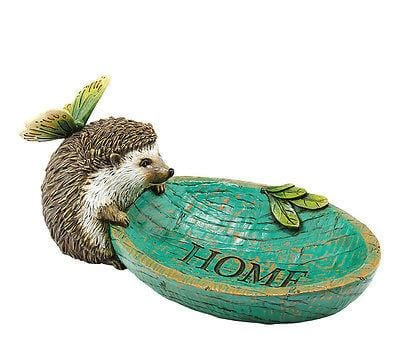 Dept 56 Garden 2014 Hedgehog Butterfly Bath #4039903 NEW FREE SHIPPING 48 STATES