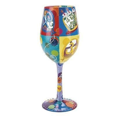 Lolita Wine Glasses 40 Is The New 30 #GLS11-5534C NIB FREE SHIPPING 48 STATES