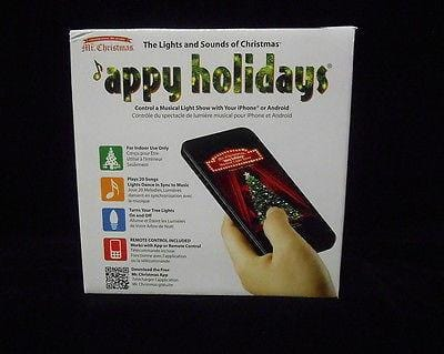 Mr. Christmas Appy Holidays W/Remote Indoor #60401 NIB FREE SHIPPING OFFER