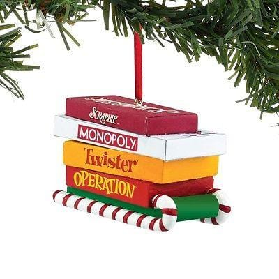 Dept 56 2015 Hasbro Board Games On Sled Ornament #4051768     FREE SHIP 48 STATE