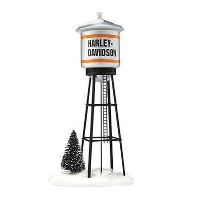 Dept 56 Snow Village 2014 Harley-Davidson Juneau Ave. Water Tower #4042421 NIB