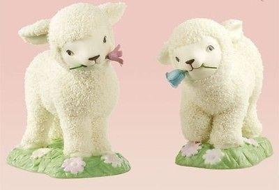 Dept 56 Snowbunnies 2010 Collectible Lambs Set/2 #811334 NIB FREE SHIP 48 STATES