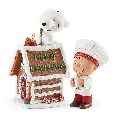 Possible Dreams Clothtique 2016 Snoopy's Gingerbread House #4052330 NIB