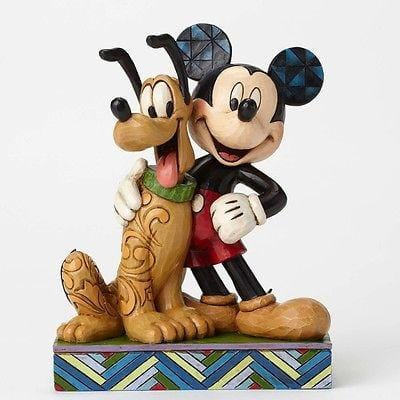 Jim Shore Disney Traditions 2015 Mickey & Pluto #4048656 NIB FREE SHIP 48 STATES