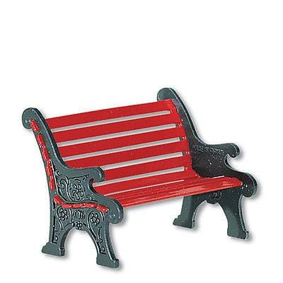 Dept 56 Red Wrought Iron Park Bench NIB #56445 FREE SHIPPING OFFER